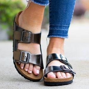 Metallic Arizona Birkenstock Sandals